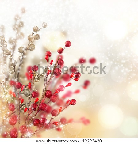 Christmas red and gold decoration