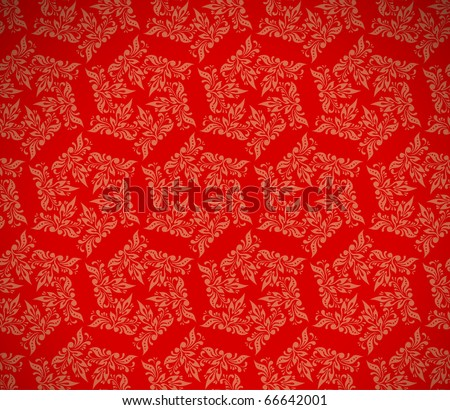 christmas red background, floral design - stock photo