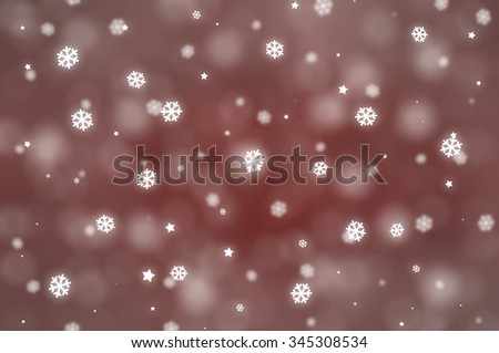 Christmas red background. The winter background, falling snowflakes