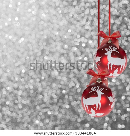 Christmas red balls  - stock photo