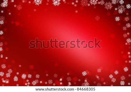christmas red card background - stock photo