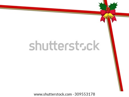 Christmas red ribbon background