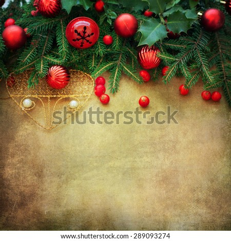 Christmas Retro Card border design