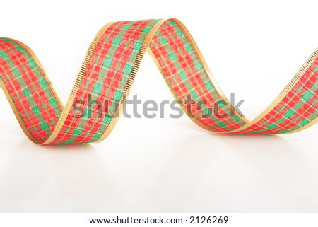 Christmas ribbon isolated