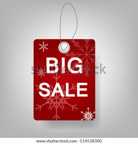 Christmas Sale stickers Raster version illustration