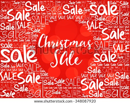 Christmas SALE word cloud background, business concept - stock photo