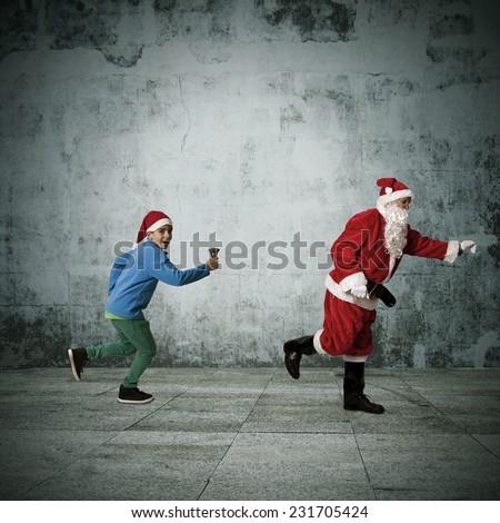 christmas, santa claus - stock photo