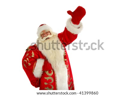 Christmas Santa Claus  . Isolated on white