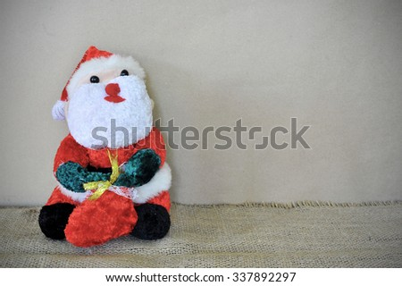 Christmas Santa Claus on wooden background