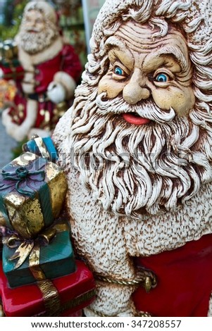 Christmas Santa Claus statue decoration in denmark