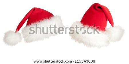 Christmas Santa hat - stock photo