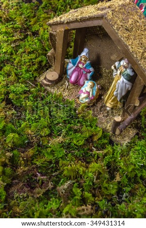 Christmas Scene - Nacimiento - stock photo