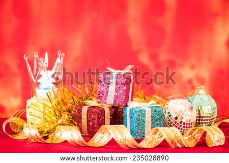 Christmas scene Small DOF Christmas photo - stock photo