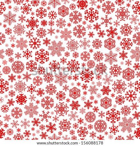 Red And White Snowflake Christmas Background Red Snowflakes on White