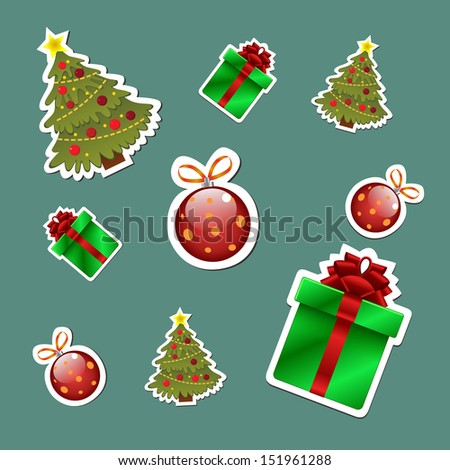Christmas set of stickers