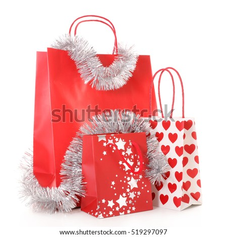 Christmas Shopping Bag Stock Images, Royalty-Free Images & Vectors ...