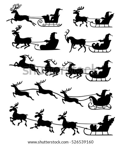 Reindeer Silhouette Stock Images Royalty Free Images