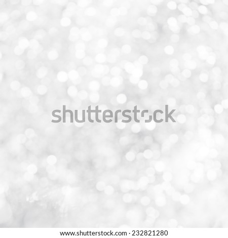 Christmas Silver Background  abstract of white light - stock photo