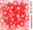 christmas snowflake and star lights illustration background - stock photo