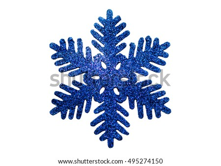 Christmas snowflake isolated on white background.  Christmas decorations