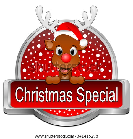 Christmas Special button - stock photo