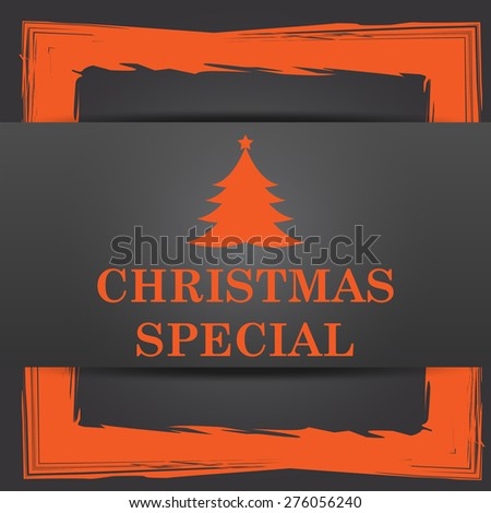 Christmas special icon. Internet button on grey background.  - stock photo