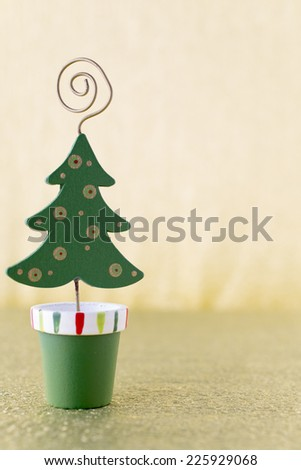 Christmas spruce - silver bokeh defocused.Stock image. - stock photo