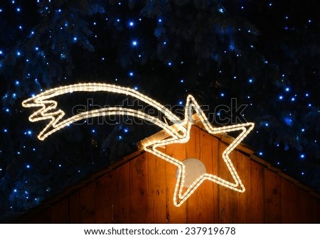 Christmas star / New year / Falling star - stock photo