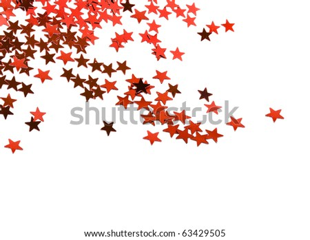 Christmas Star with copy space for your text on a white background - stock photo