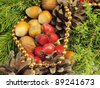christmas still life texture background - stock photo