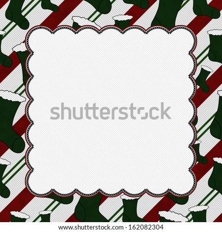 Christmas Stocking Christmas Background with center copy-space, Christmas Time Background - stock photo