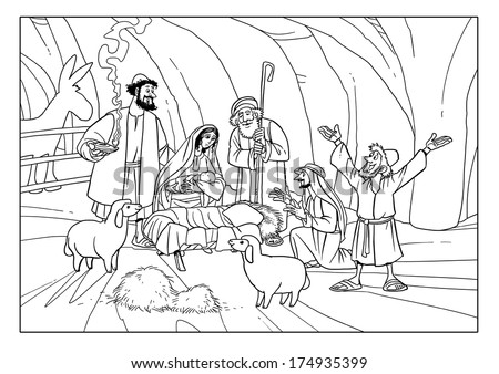 Christmas Story Shepherds Stable