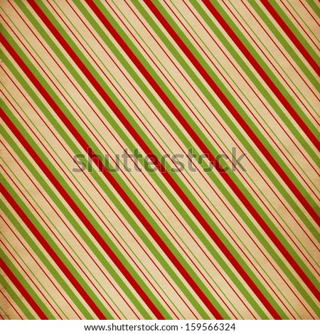 Christmas striped background - stock photo