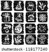 christmas symbols - stock photo
