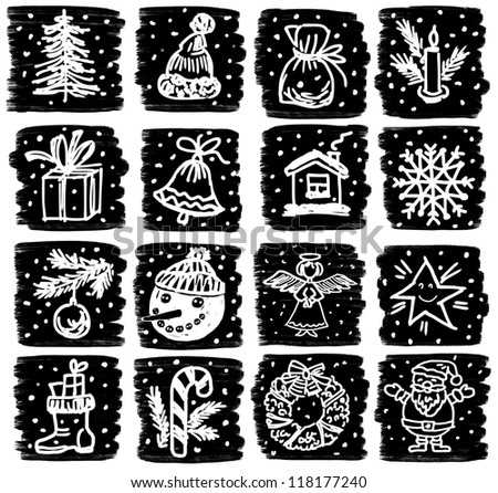 christmas symbols - stock photo