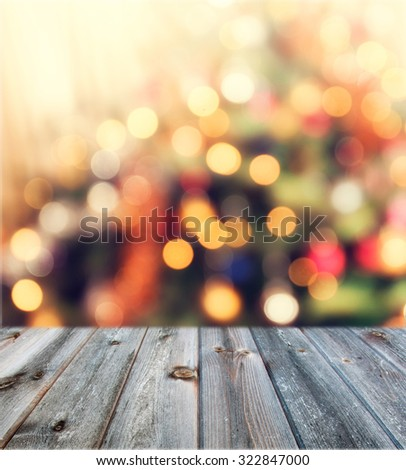 christmas table background - stock photo