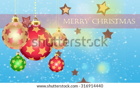 Christmas theme sparkling ornaments