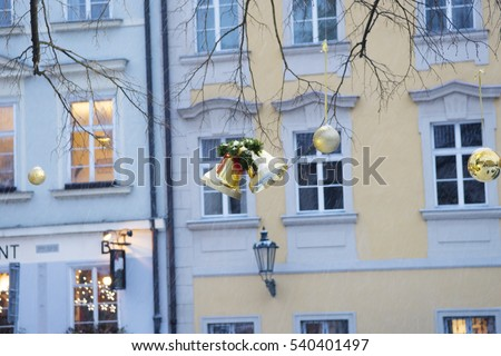 Christmas Time, City View Background, Christmas Background, Prague, Czech Republic