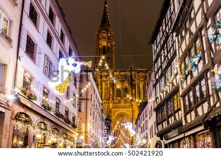 Christmas time in Strasbourg, France