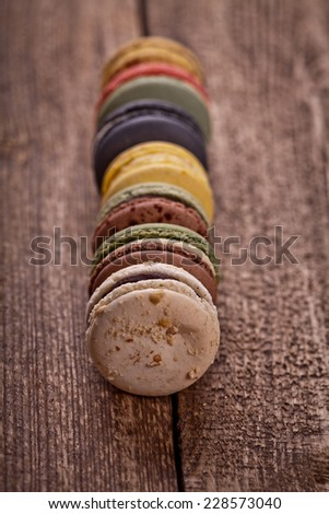 Christmas time, macaroons  - stock photo