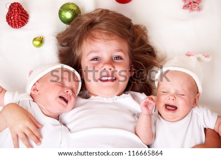 Twin toddler girls with red hair christmas toddler girl and