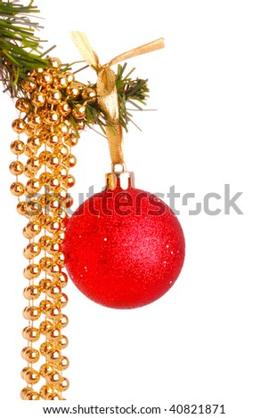 Christmas toy and beads 17 - stock photo