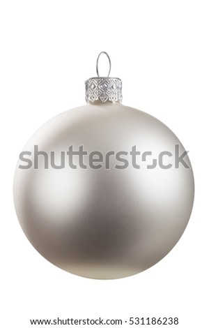 Christmas toy ball isolated on white background