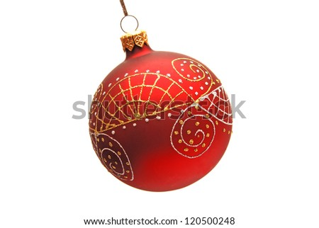 Christmas toy isolated on white background