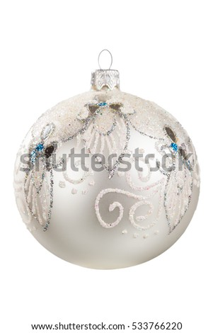 Christmas toy pattern on Christmas tree isolated on white background