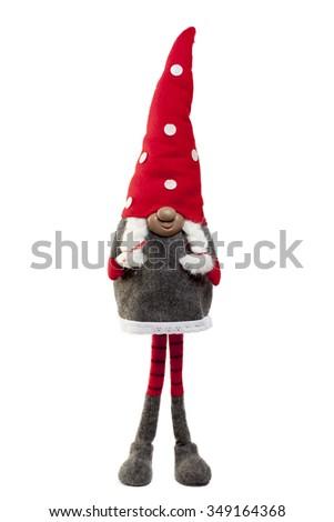 Christmas toy Santa Claus  on a white background - stock photo