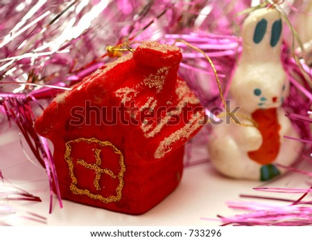Christmas toys and decorations. - stock photo
