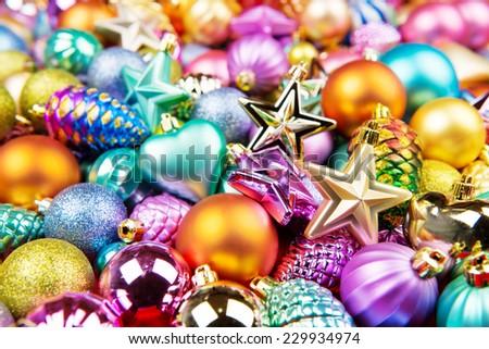 Christmas toys background - stock photo