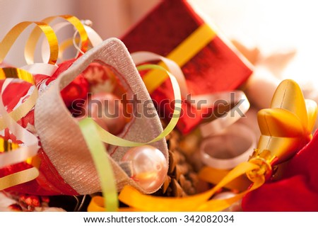 Christmas toys,gifts - stock photo