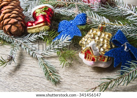 christmas, toys, new year, decoration, holiday, fir
